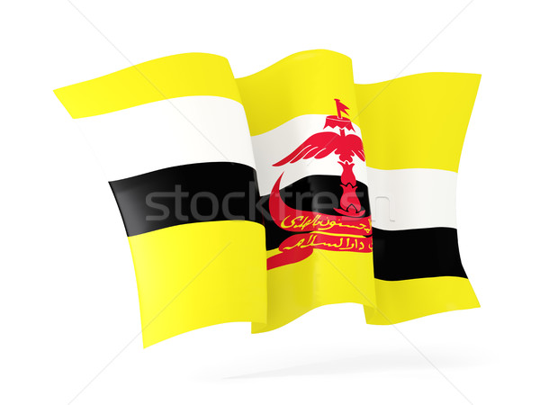 Vlag Brunei 3d illustration geïsoleerd witte Stockfoto © MikhailMishchenko