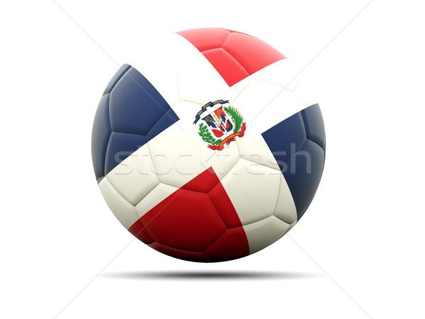 Fútbol bandera República Dominicana 3d fútbol deporte Foto stock © MikhailMishchenko