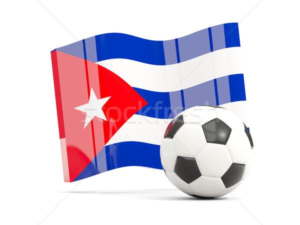 Calcio bandiera isolato bianco illustrazione 3d Foto d'archivio © MikhailMishchenko