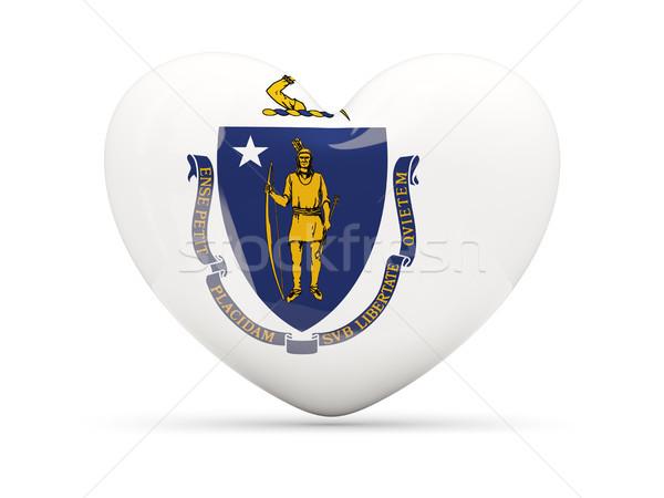 Flag of massachusetts, US state heart icon Stock photo © MikhailMishchenko
