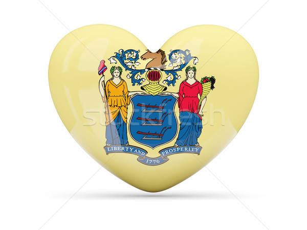 Flag of new jersey, US state heart icon Stock photo © MikhailMishchenko