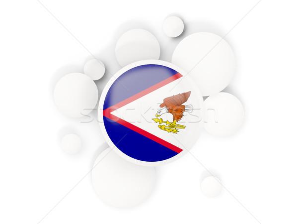 Bandeira americano círculos padrão isolado branco Foto stock © MikhailMishchenko