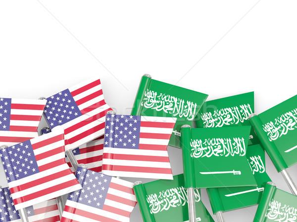 Bandeira eua arábia isolado branco 3D Foto stock © MikhailMishchenko