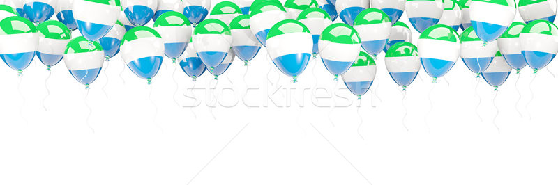Balloons frame with flag of sierra leone Stock photo © MikhailMishchenko
