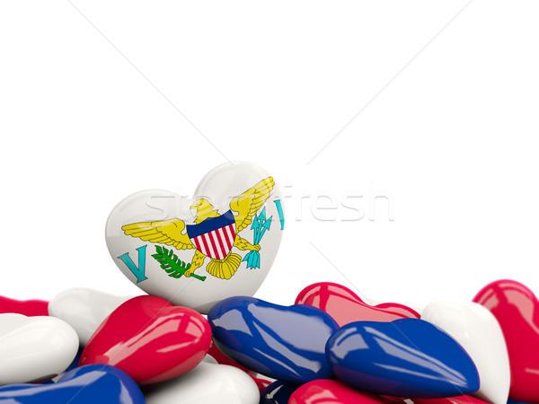 Szív zászló Virgin-szigetek felső szívek izolált Stock fotó © MikhailMishchenko