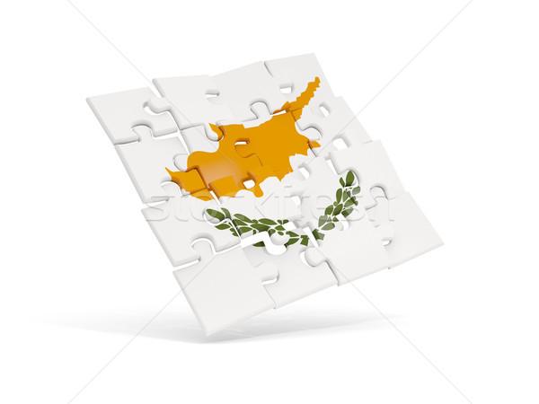 головоломки флаг Кипр изолированный белый 3d иллюстрации Сток-фото © MikhailMishchenko