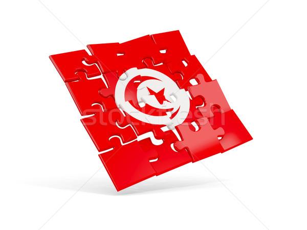 Puzzle flag of tunisia isolated on white Stock photo © MikhailMishchenko