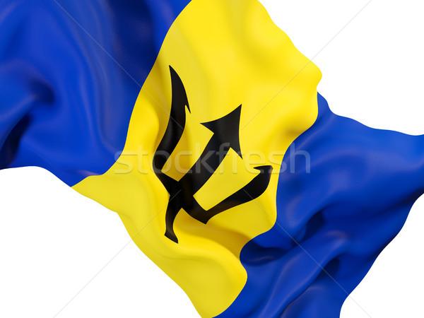 Vlag Barbados 3d illustration reizen Stockfoto © MikhailMishchenko