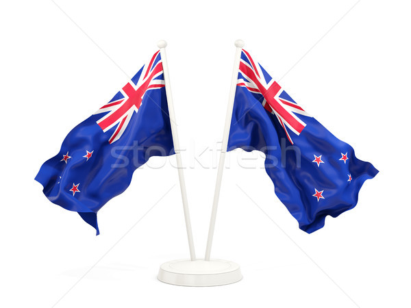 Two waving flags of new zealand Stock photo © MikhailMishchenko