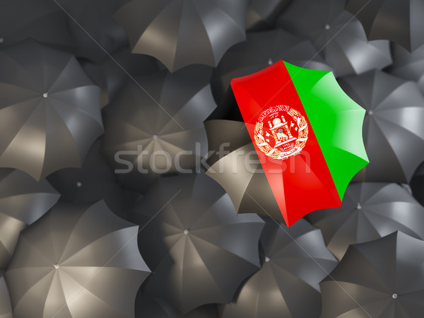 Umbrella with flag of afghanistan Stock photo © MikhailMishchenko