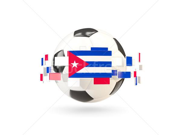 Piłka line flagi banderą Kuba Zdjęcia stock © MikhailMishchenko