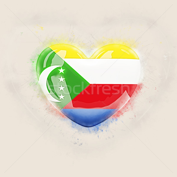 Heart with flag of comoros Stock photo © MikhailMishchenko