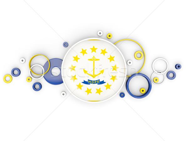 Bandeira Rhode Island círculos padrão Estados Unidos local Foto stock © MikhailMishchenko