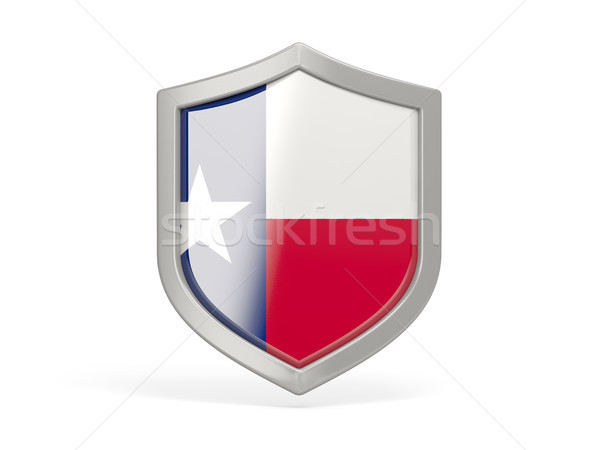 Shield icon with flag of texas. United states local flags Stock photo © MikhailMishchenko