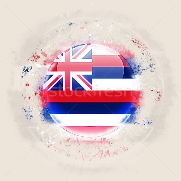 Hawaii zászló grunge ikon Egyesült Államok helyi Stock fotó © MikhailMishchenko