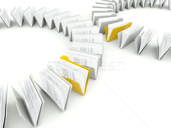 Zdjęcia stock: Plików · odizolowany · biały · działalności