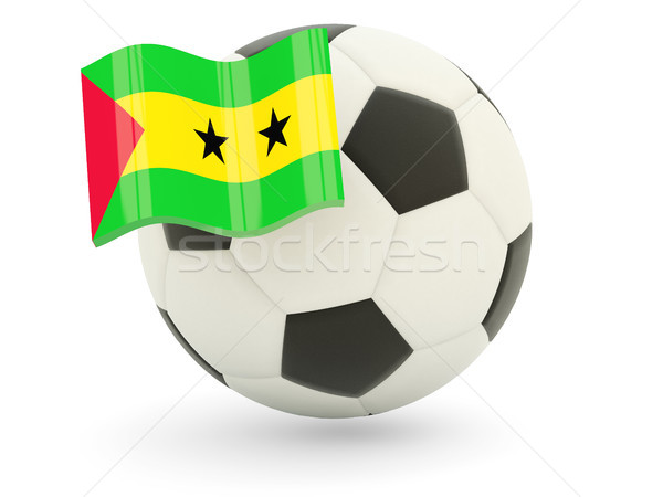 Football with flag of sao tome and principe Stock photo © MikhailMishchenko