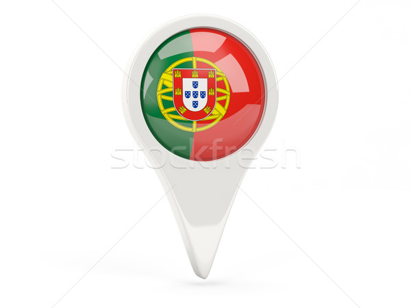 Round flag icon of portugal Stock photo © MikhailMishchenko
