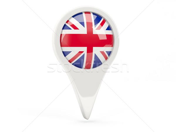 Flagge Symbol Vereinigtes Königreich isoliert weiß Karte Stock foto © MikhailMishchenko