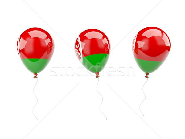 Stockfoto: Lucht · ballonnen · vlag · Wit-Rusland · geïsoleerd · witte