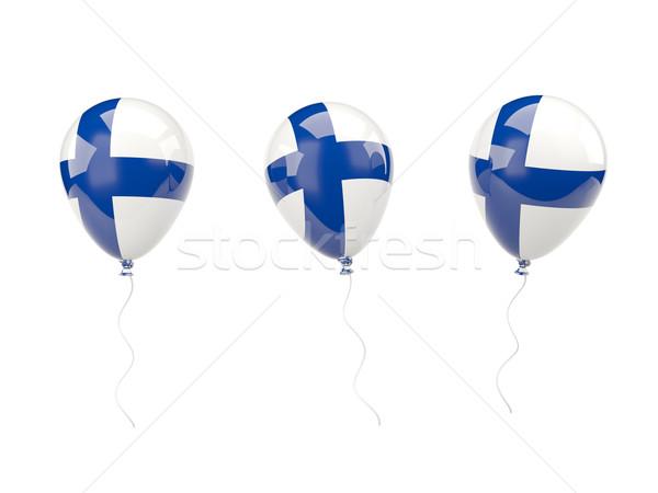 Ar balões bandeira Finlândia isolado branco Foto stock © MikhailMishchenko