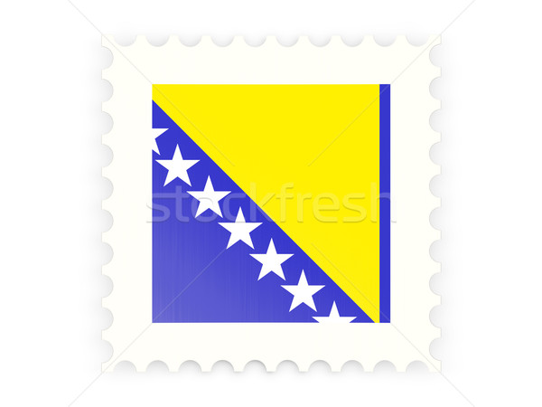 Postage stamp icon of bosnia and herzegovina Stock photo © MikhailMishchenko