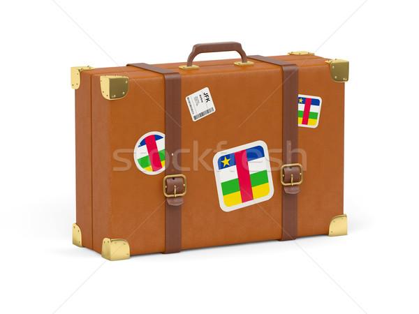 Bőrönd zászló központi afrikai köztársaság utazás Stock fotó © MikhailMishchenko