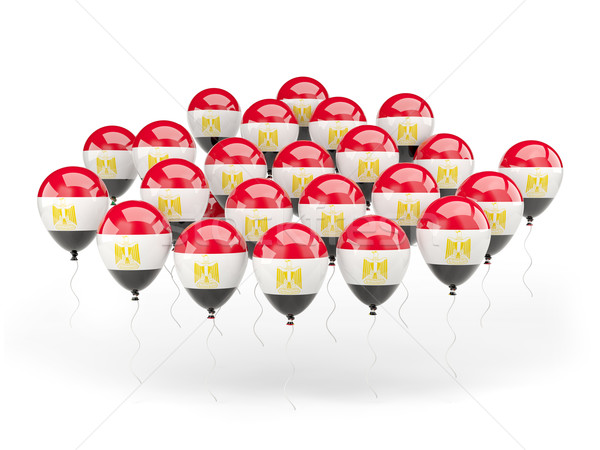 Balloons with flag of egypt Stock photo © MikhailMishchenko