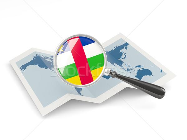 拡大された フラグ セントラル アフリカ 共和国 地図 ストックフォト © MikhailMishchenko