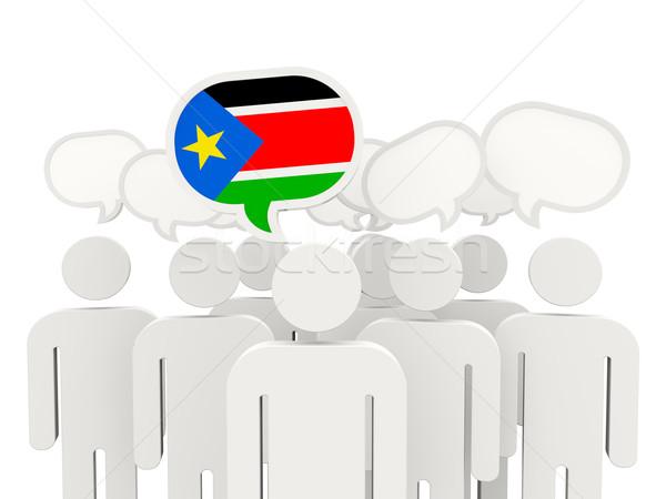Mensen vlag zuiden Soedan geïsoleerd witte Stockfoto © MikhailMishchenko