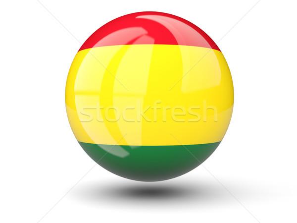 Ikon zászló Bolívia izolált fehér utazás Stock fotó © MikhailMishchenko