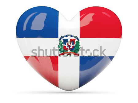 Round icon of flag of dominican republic Stock photo © MikhailMishchenko