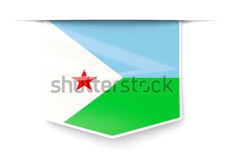 Placu ikona banderą Dżibuti metal ramki Zdjęcia stock © MikhailMishchenko