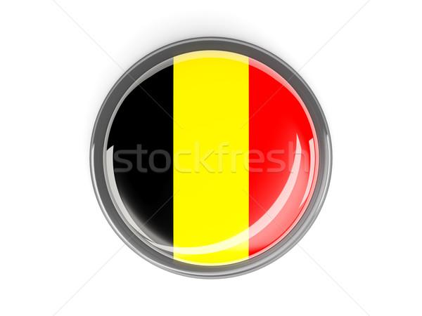Gomb zászló Belgium fém keret utazás Stock fotó © MikhailMishchenko