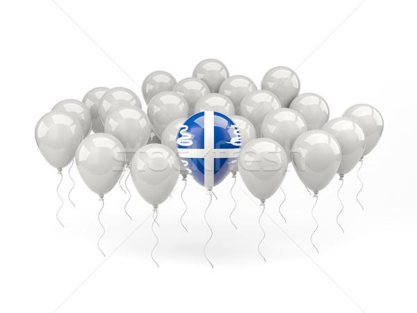 Lucht ballonnen vlag geïsoleerd witte reizen Stockfoto © MikhailMishchenko