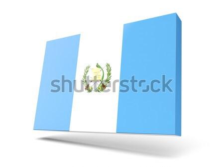 квадратный Label флаг Гватемала изолированный белый Сток-фото © MikhailMishchenko