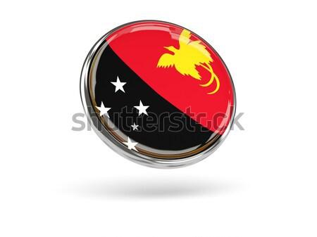 Matrica zászló Pápua Új-Guinea izolált fehér utazás Stock fotó © MikhailMishchenko