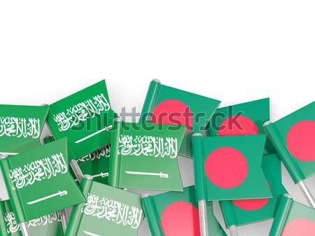 Bandeira pin Bangladesh isolado branco fundo Foto stock © MikhailMishchenko