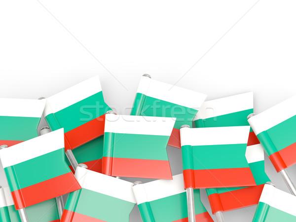 Banderą pin Bułgaria odizolowany biały tle Zdjęcia stock © MikhailMishchenko