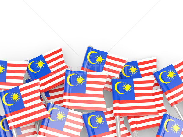Bandeira pin Malásia isolado branco fundo Foto stock © MikhailMishchenko