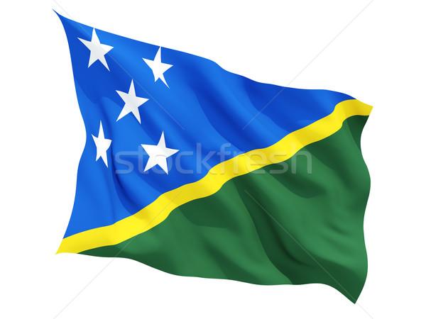 Waving flag of solomon islands Stock photo © MikhailMishchenko