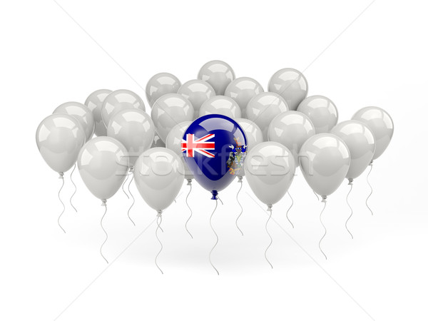 Air balloons with flag of south sandwich islands Stock photo © MikhailMishchenko