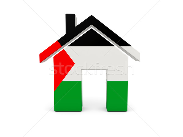 Home with flag of palestinian territory Stock photo © MikhailMishchenko