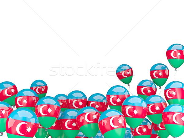 Pływające balony banderą Azerbejdżan odizolowany biały Zdjęcia stock © MikhailMishchenko