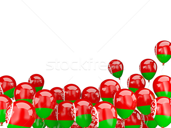 Flying balloons with flag of belarus Stock photo © MikhailMishchenko