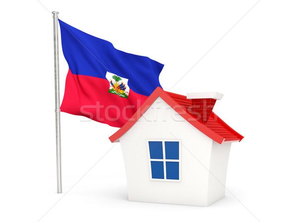 家 フラグ ハイチ 孤立した 白 ホーム ストックフォト © MikhailMishchenko