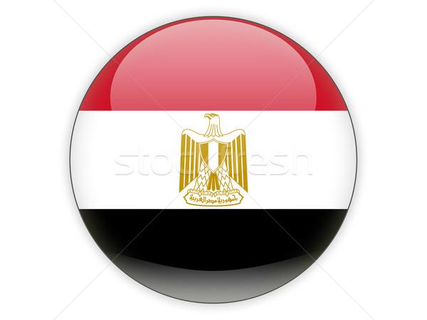 Round icon with flag of egypt Stock photo © MikhailMishchenko
