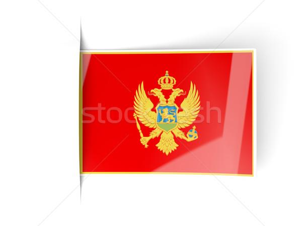 квадратный Label флаг Черногория изолированный белый Сток-фото © MikhailMishchenko