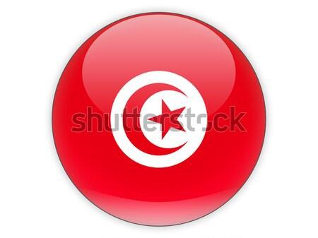 Round icon with flag of tunisia Stock photo © MikhailMishchenko