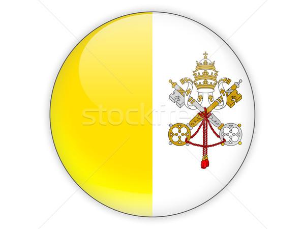 Ikona banderą Watykan odizolowany biały podróży Zdjęcia stock © MikhailMishchenko